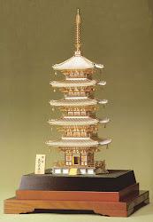 純銀製 五重塔