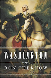 Cover of Ron Chernow's book, Washington