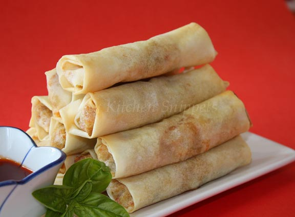 how to make spring rolls crispy without frying