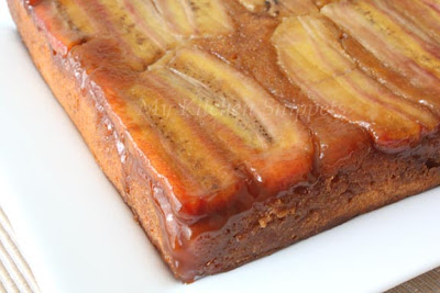 My Kitchen Snippets: Banana Upside-down Cake