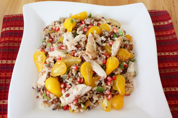 My Kitchen Snippets: Pomegranate Wild And Brown Rice Salad