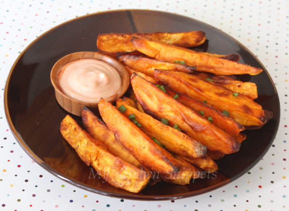 how to make oven roasted sweet potato wedges