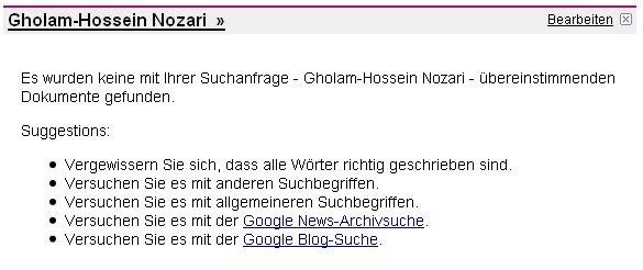 Keine Google-News Treffer