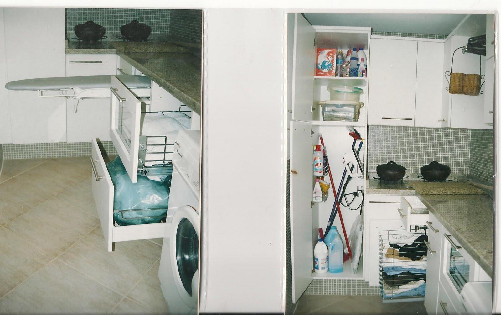#486A66 Ter o lugar certinho de colocar aquelas tralhas de lavanderia é  1600x1005 px Projetos Cozinha Lavanderia_5095 Imagens