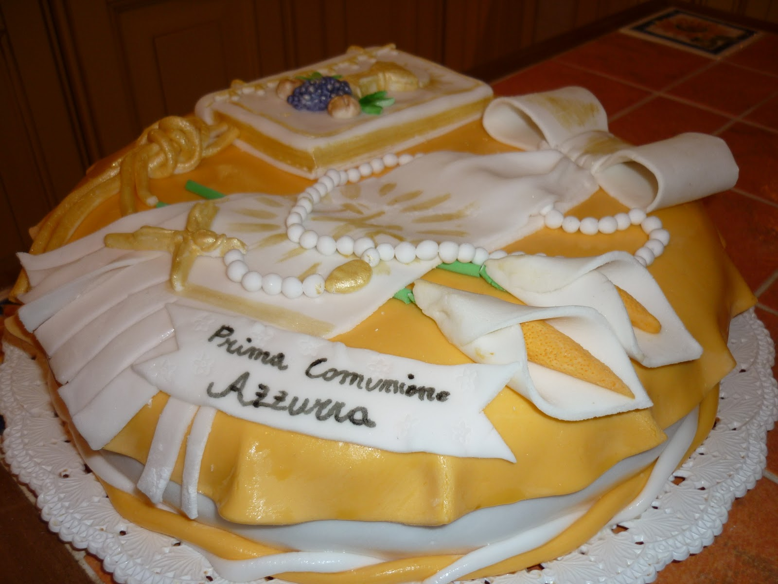 I nostri peccati di gola torte per prima comunione for Decorazione torte prima comunione