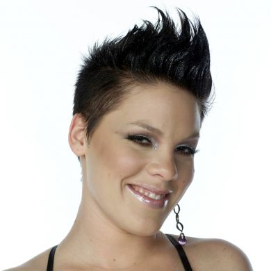 p!nk black hair  Posted by Pink Pictures at