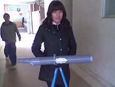 Telescopio con material de pvc