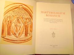 La portada del Martyrologium Romanum