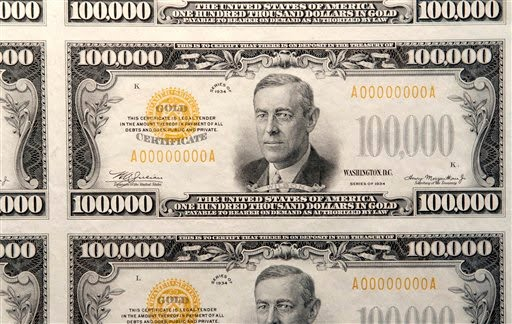 US 100,000 doll... $100000 Bill