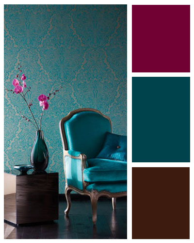 Teal and Brown Color Scheme