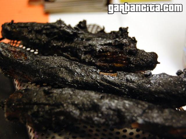 Calçots con tempura de sarmientos