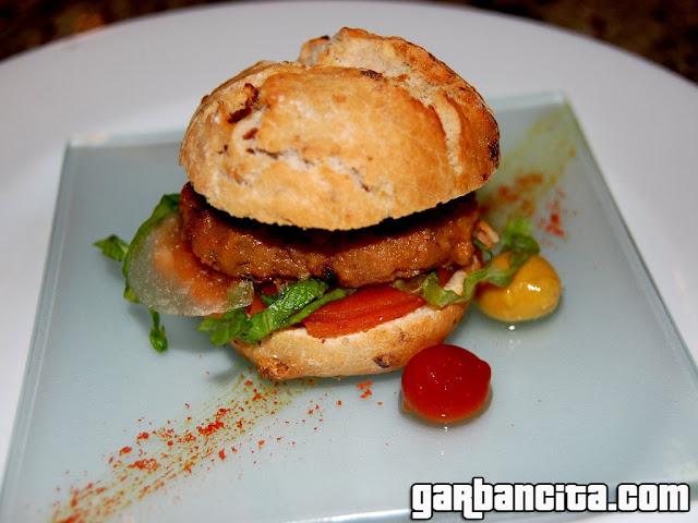Cheeseburger de cordero de Navarra