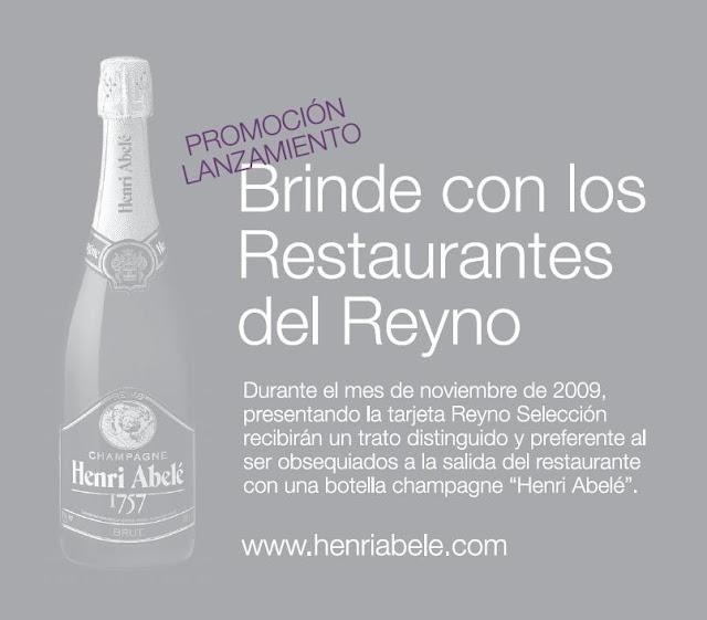 Brinde con los Restaurantes del Reyno