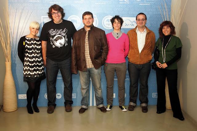 Bloggers en el Photocall, de drcha a izq.: Marta Borruel, Daniel Martínez, responsable de Alcandora, Jorge Guitian, Roberto González y Garbancita®