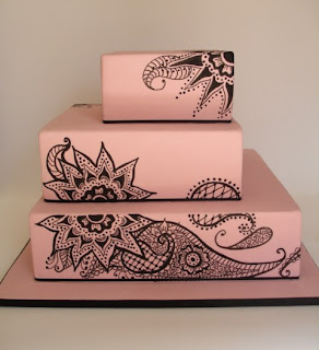 Edible Creations Henna Wedding Cake