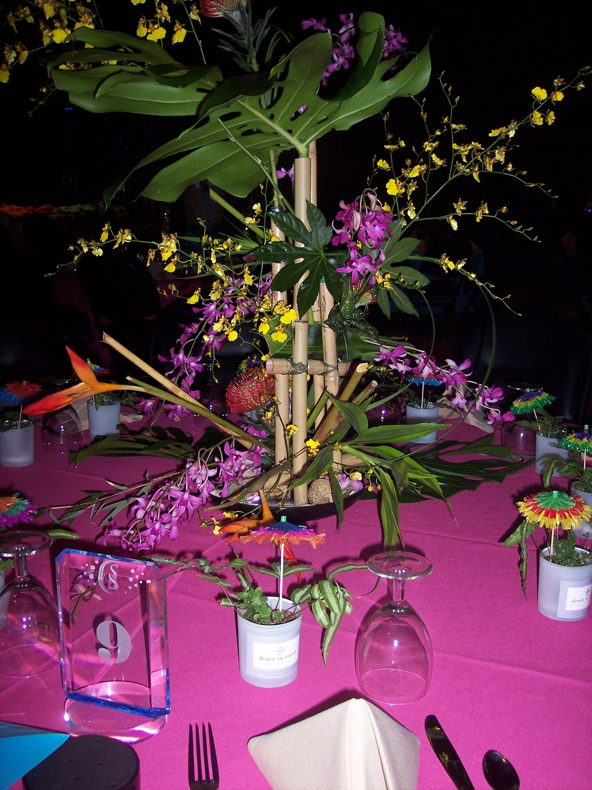 Down to Earth Flowers + Gifts: Chamber Luau