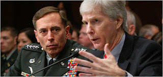 General David Petraeus testifying with Ambassador Ryan Crocker