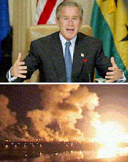 Bush lying about the invasion of Iraq