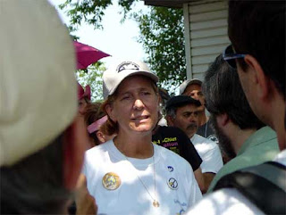 Cindy Sheehan at Camp Casey, near Crawford, Texas, August, 2005