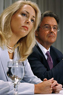 "Valerie Plame and husband Joe Wilson. Because Valerie Plame was publicly identified as a ""CIA"" agent, the ""U.S."" intelligence function of investigating weapons of mass destruction in ""Iran"" was destroyed."