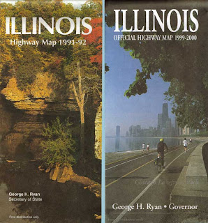 "State of Illinois highway maps with George Ryan's name on them. If I live long enough, I can bring them to ""Antiques Road Show"""