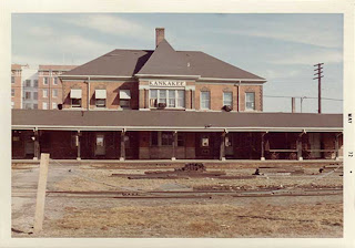 Illinois Central train station, Kankakee, Illinois, 1972 Photo credit: John Hamilton