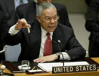Colin Powell lying at the UN