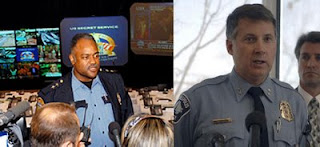 St. Paul police chief John Harrington and Minneapolis police chief Tim Dolan