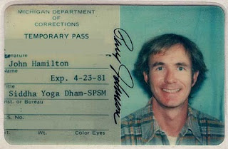 This ID got me into Jackson State Prison in Michigan, where I helped teach a meditation class. Jackson is reputed to be the largest walled-in prison in the U.S. A riot took place there not long after I stopped volunteering there, and all outside groups were banned from entry to the facility.
