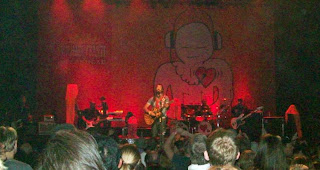 Michael Franti on stage in Madison with his band Spearhead, October 9, 2010