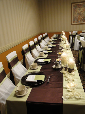 Linens provided by Connie Duglin Linens Centerpieces