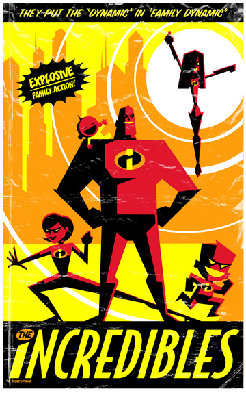 flyer goodness  retro disney  pixar posters by eric tan