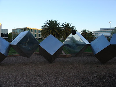cube sculpture in belconnen, act