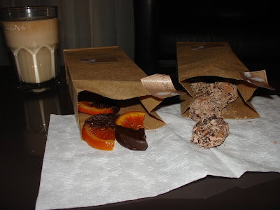 koko black orange segments and coffee chocolate truffles