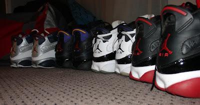4 pairs of Air Jordan 6rings
