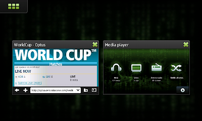 Nokia N900 multi-tasking the World Cup