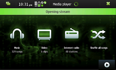 Media Player on N900 receiving stream
