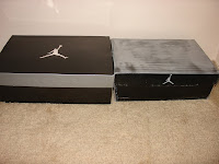 Comparison of 2010 Retro Air Jordan VIs to Counterfeit - Boxes