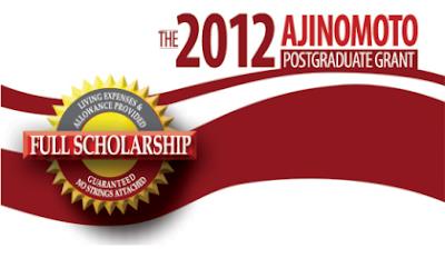 Ajinomoto Post-Graduate Scholarship