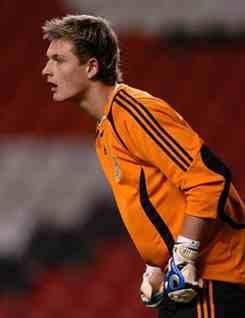 Martin Hansen the professional goalkeeper of Denmark