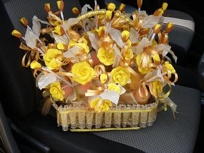bunga sabun; gubahan