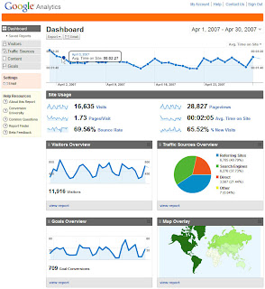 Screenshot of new Google Analytics interface