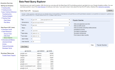 Data Feed Explorer