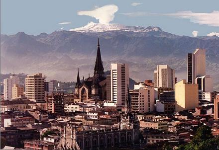 skyline di Manizales