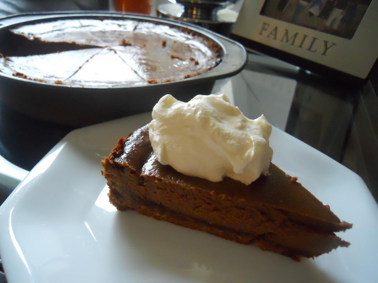 Jesse's Kitchen: Triple Chocolate Pumpkin Pie