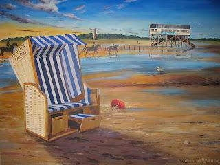 Strandkorb gemalt  Claudias Kunstblog: 2007-07-22