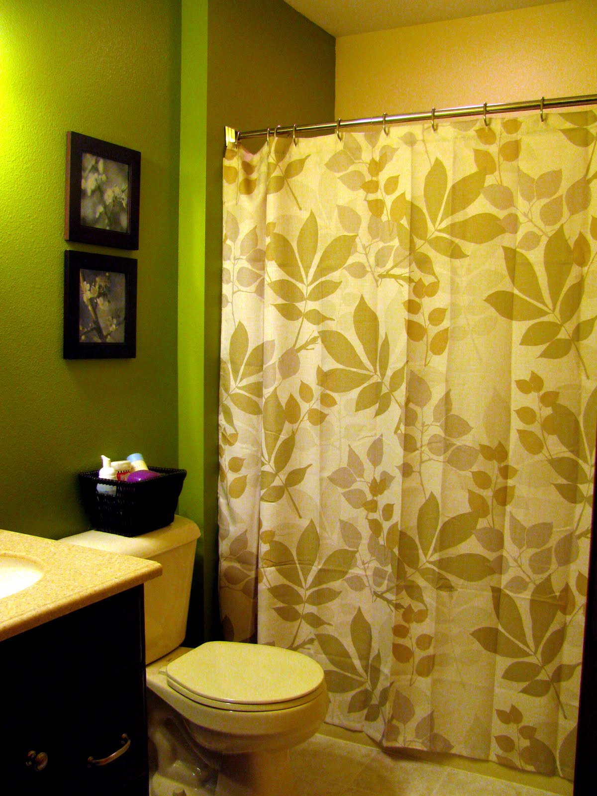 option number four shadow leaves shower curtain