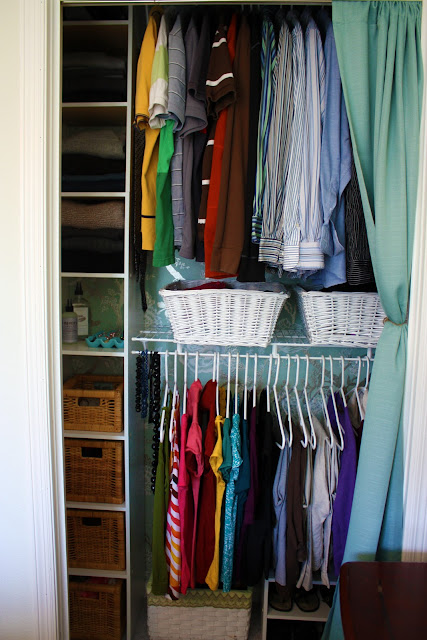 Iheart organizing september featured space bedroom conquering closets part 5 - Keep your stuff organized with bedroom closet organizers ...