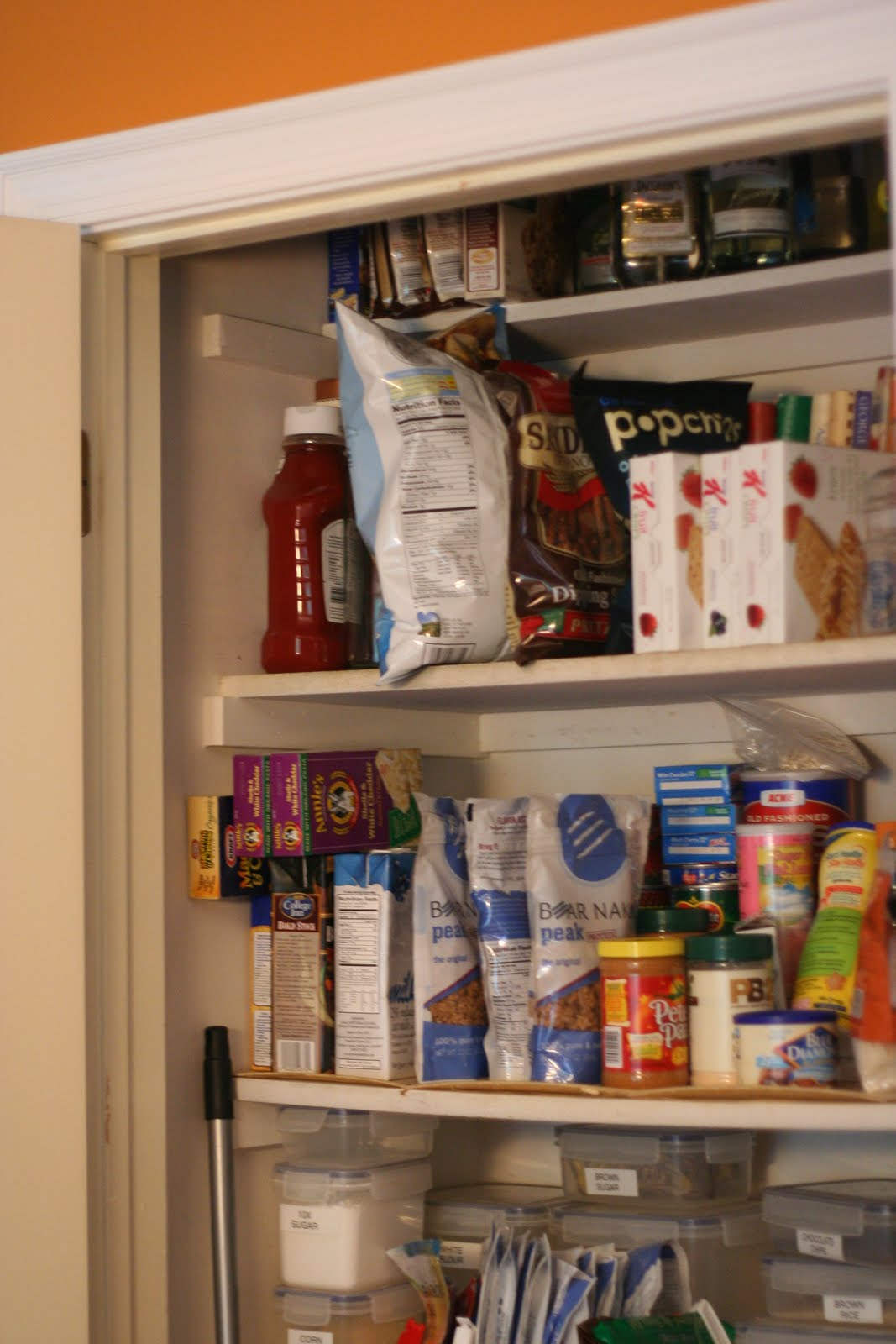 My Poor Neglected Pantry. It Holds All Of Our Non Refrigerated Food . Full resolution  portraiture, nominally Width 1067 Height 1600 pixels, portraiture with #AC5F1F.