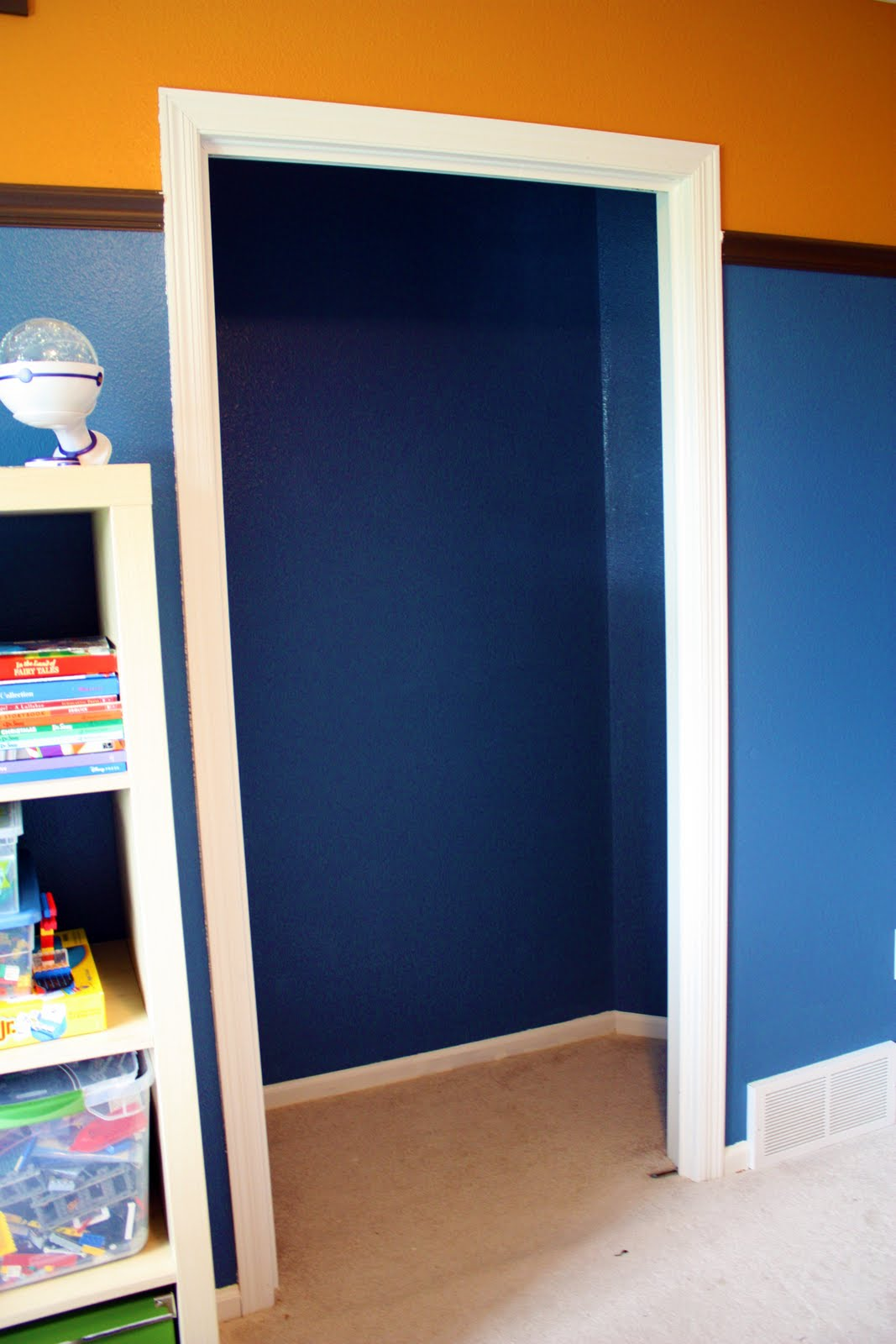 IHeart Organizing: Closet Case: The Ultimate Kid's Study Zone!. Full resolution  portraiture, nominally Width 1067 Height 1600 pixels, portraiture with #BB6A10.